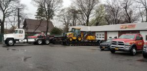 Tow trucks at the garage